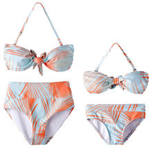 373f029858 (Ship from US) MUQGEW Mom And Me Summer Swimwear Baby Girls Mother Leaf  Floral Print Swimsuit Bikini Clothes Family Matching Bikini Set Outfit