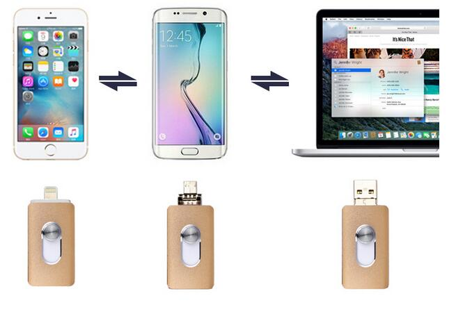 For iPhone 5/5s/6/6s Plus/ipad memory drive Otg Usb Flash DriveUsb Flash Drive iPhone16g ...
