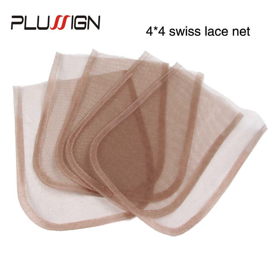 4x4 5x5 13x4 360 السويسري الدانتيل صافي قاعدة الشعر شبكات 5 قطعة/الوحدة أعلى الدانتيل إغلاق صافي شعر مستعار النسيج صافي الجلد اللون للنساء الفتيات