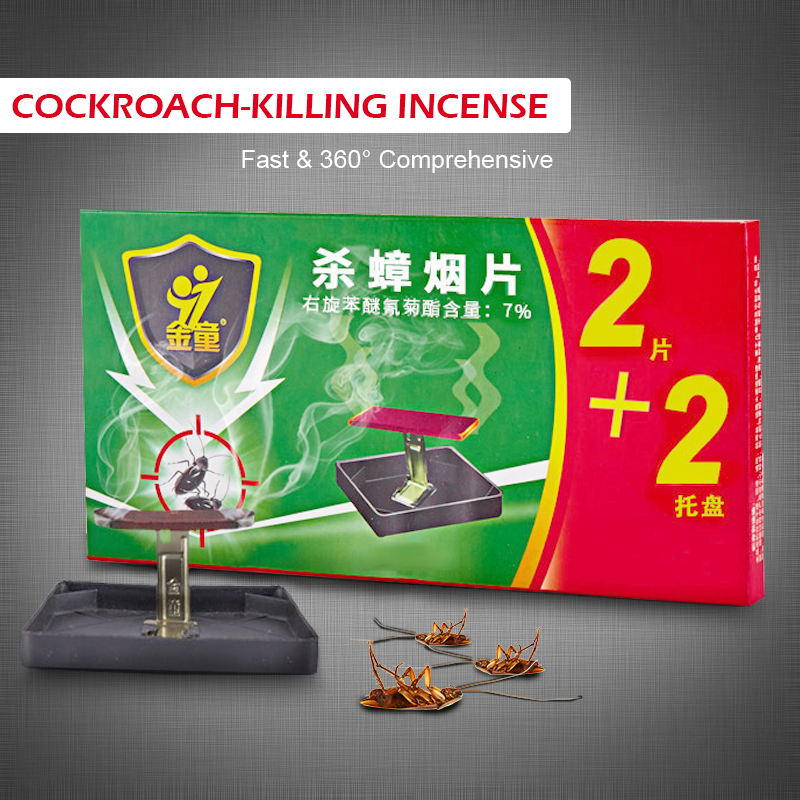 New Cockroach Killing Incense Smoke Insecticide Tablet Fast Comprehensive Kill Pest Home Living Room Kitchen Toilet Pest Control