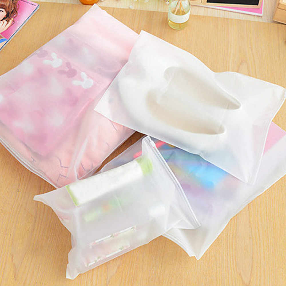 1pcs Waterproof Translucent Zip Storage Bag Clothes Underwear Socks Organizer shoe organizer zapatero organizador de zapatos NEW