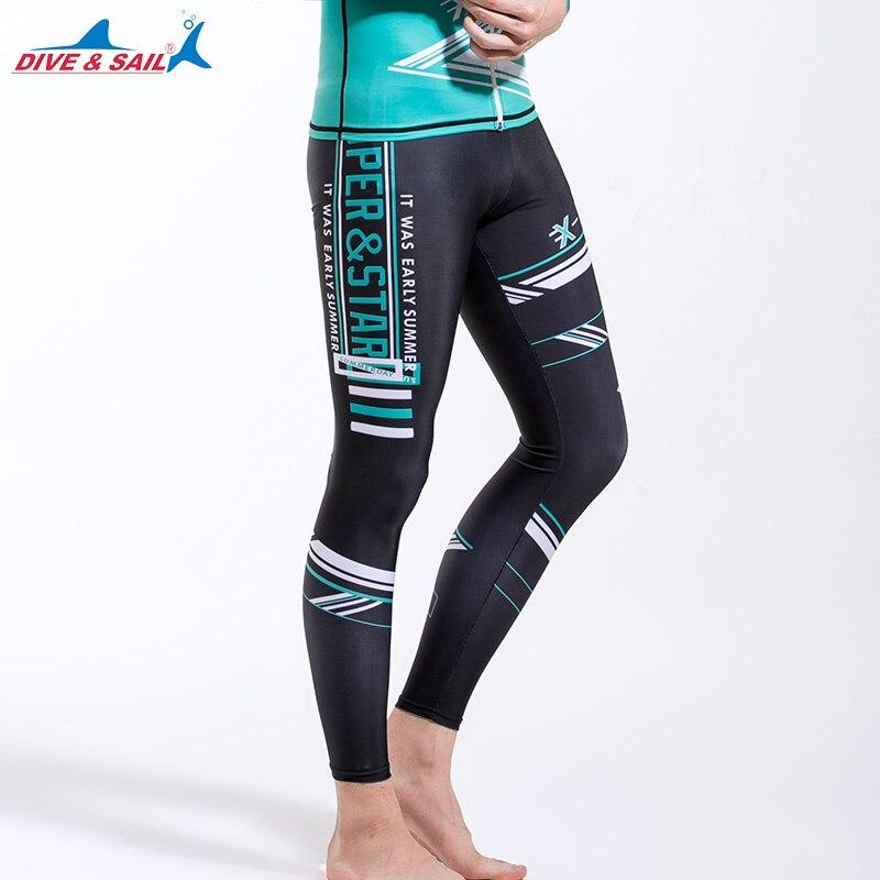 95d7a461a1e6c Los hombres trajes básica de buceo pieles cuerpo pantalones surf Leggings  erupción medias largo baño de sol de protección UV UPF50 + en Trajes de  cuerpo de ...