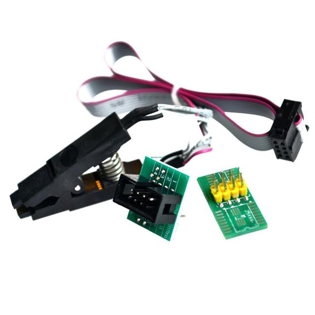update version SOIC8 SOP8 Test Clip For EEPROM 93CXX / 25CXX / 24CXX in circuit programming+2 adapters