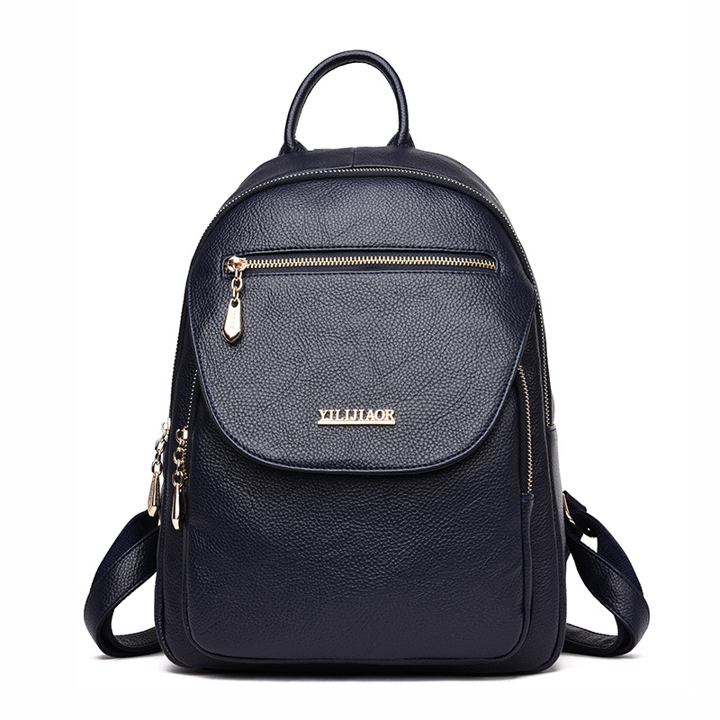fa738bd5eda8 Dropwow 2018 New Softback Backpack Female PU Leather Backpack ...