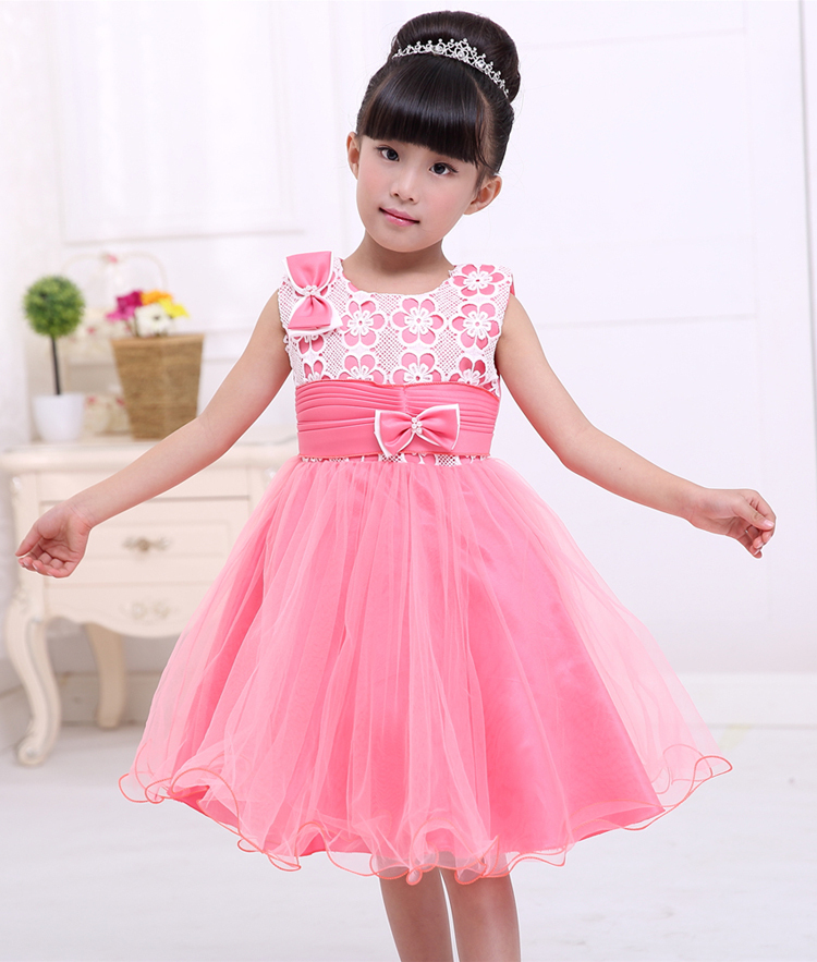 d6b2286cd pink flowers embroidery elegant trendy 3 year old kids toddlers party dress  children frocks designs hand made baby girl dress-in Dresses from Mother &  Kids ...
