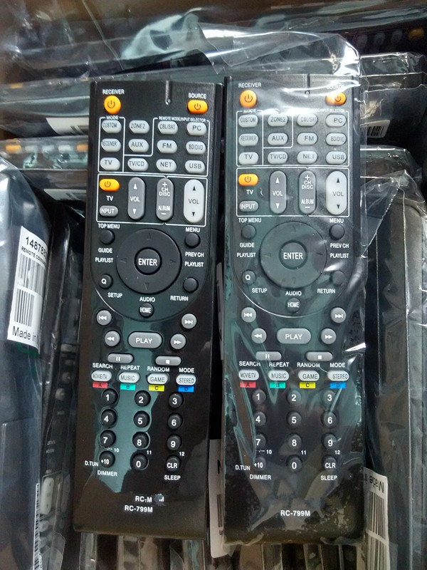 New Replacement Remote Control ONKYO RC-799M/24140799 for RC-834M RC-810M RC-812M RC-801M RC-803M RC-807M RC-834M HT-S6500 AV replace remote control rc 799m for av receiver remote for onkyo tx nr616 tx nr626 ht s5400 ht s5500 av receiver