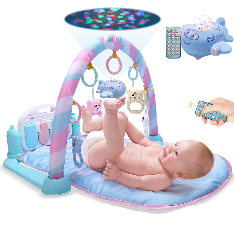 Infant Shining Baby Play Mat Fitness Carpet Music Rugs Puzzle Game Pad Educational Toy Playmat Keyboard 3 in 1 Floor Soft Mat infant shining play mat nordic style rugs and carpets for living room bedroom soft velvet kid s game mat coffee table carpet