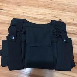 Рация нагрудный карман рюкзак черный для Хэм CB Радио очень удобная сумка J6502A