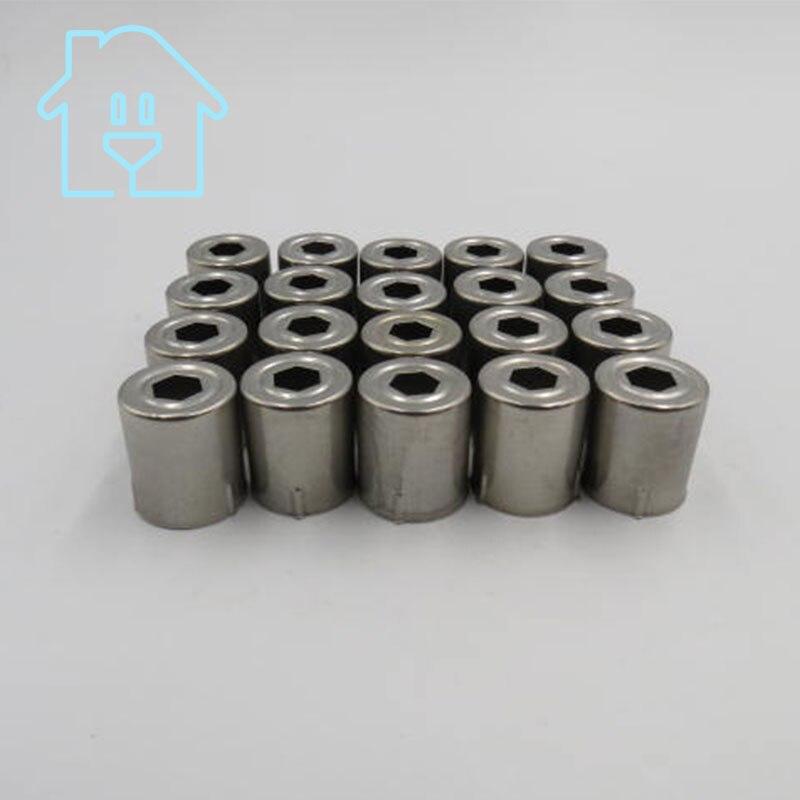 (20 Pro/lot) Stahlkappe Ersatz Mikrowelle Fünfeck Loch Magnetron 20 Stücke Silber Ton 38% Off New Unused Extrem Effizient In Der WäRmeerhaltung