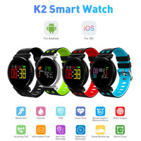 Cacgo K2 Bluetooth Round Smartwatch Waterproof IP68 Heart Rate/Blood Pressure/Blood Oxygen Smart Watch For IOS / Android Phones
