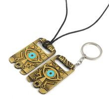 The Legend of Zelda Breath the Wild cosplay necklace prop alloy pendant keychain keyring accessories