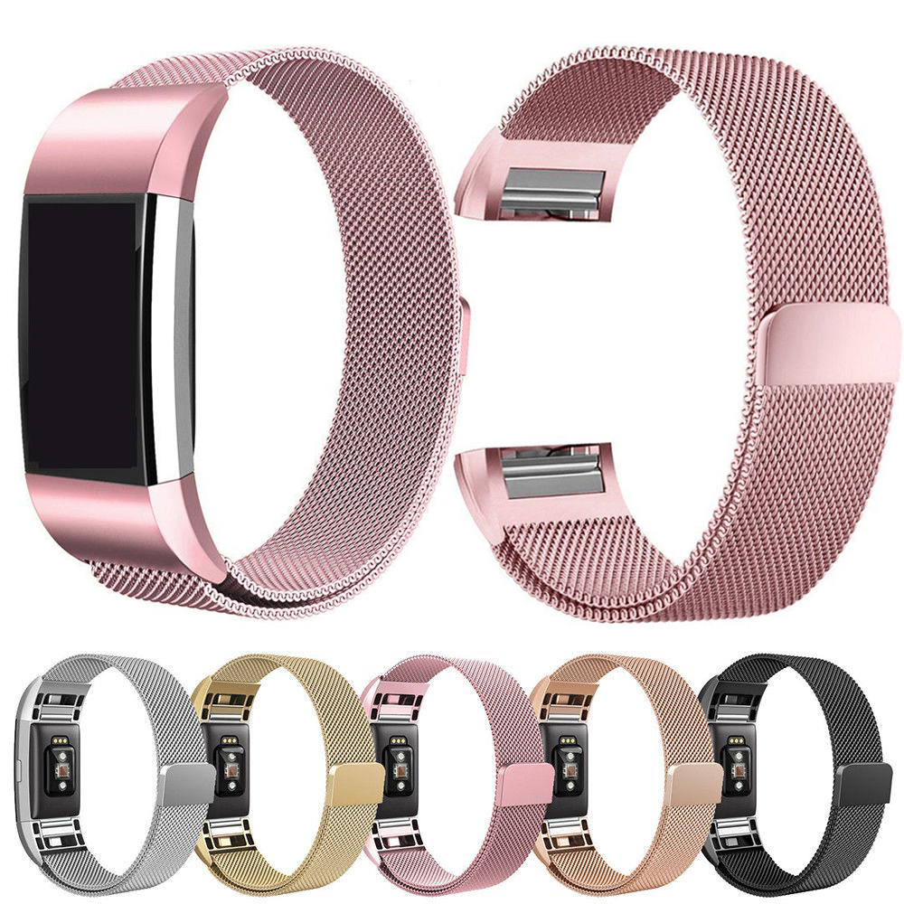 Essidi Milanese Bracelet Strap For Fitbit Charge 2 Smart Band Steel Fitness Bracelet Band Replacement For Fitbit Charge 2