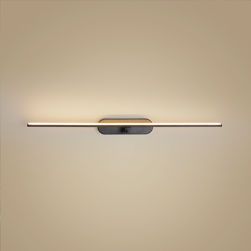 0 4M 1M LED Minimalist Mirror Light Wall Mounted Lamp Adjustment Modern Scone Indoor Lighting Bathroom Aluminum in LED Indoor Wall Lamps from Lights Lighting