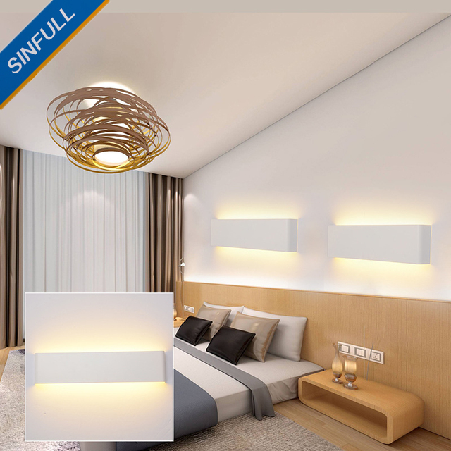 salles de bains modernes led miroir lumi re chambre murale couloir maison mur lampe maquillage. Black Bedroom Furniture Sets. Home Design Ideas