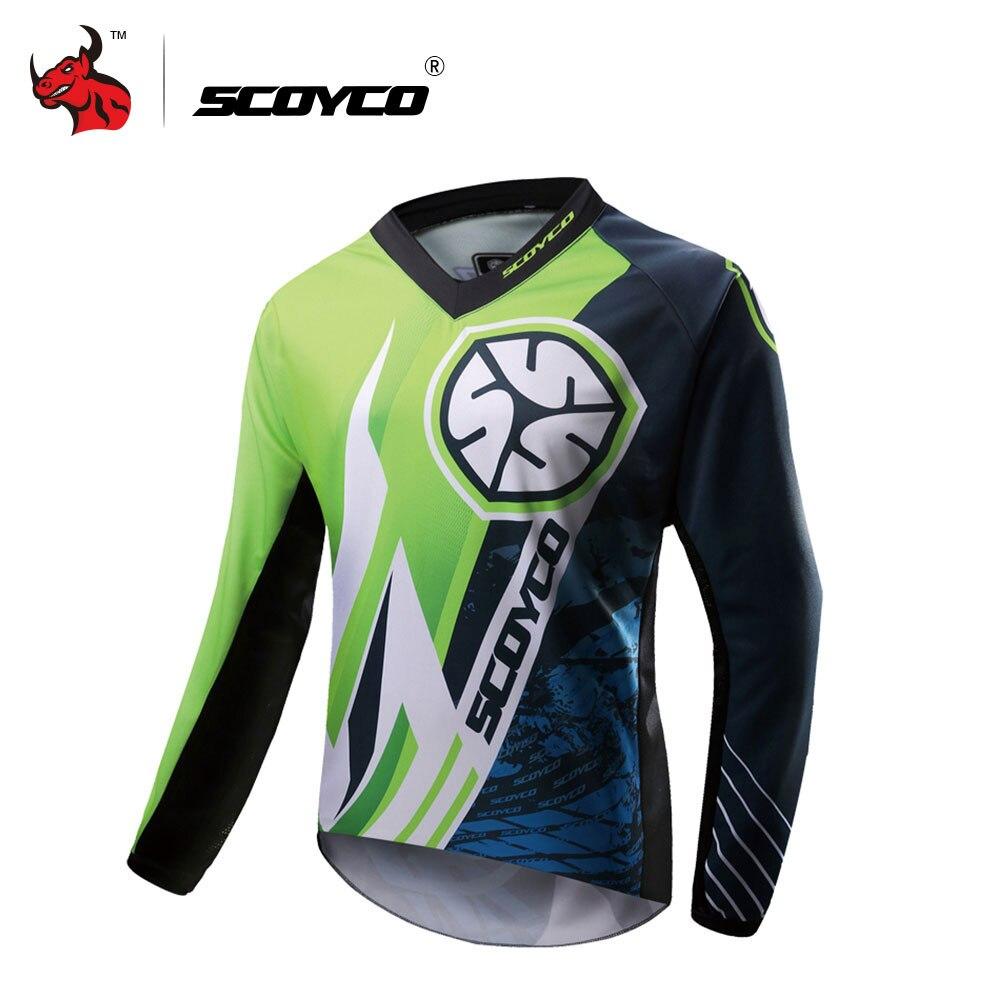 SCOYCO Moto Veste Ktm Motocross Vêtements Hommes Hors route T-shirt Tour en Vélo À manches longues Chemise Moto Jersey
