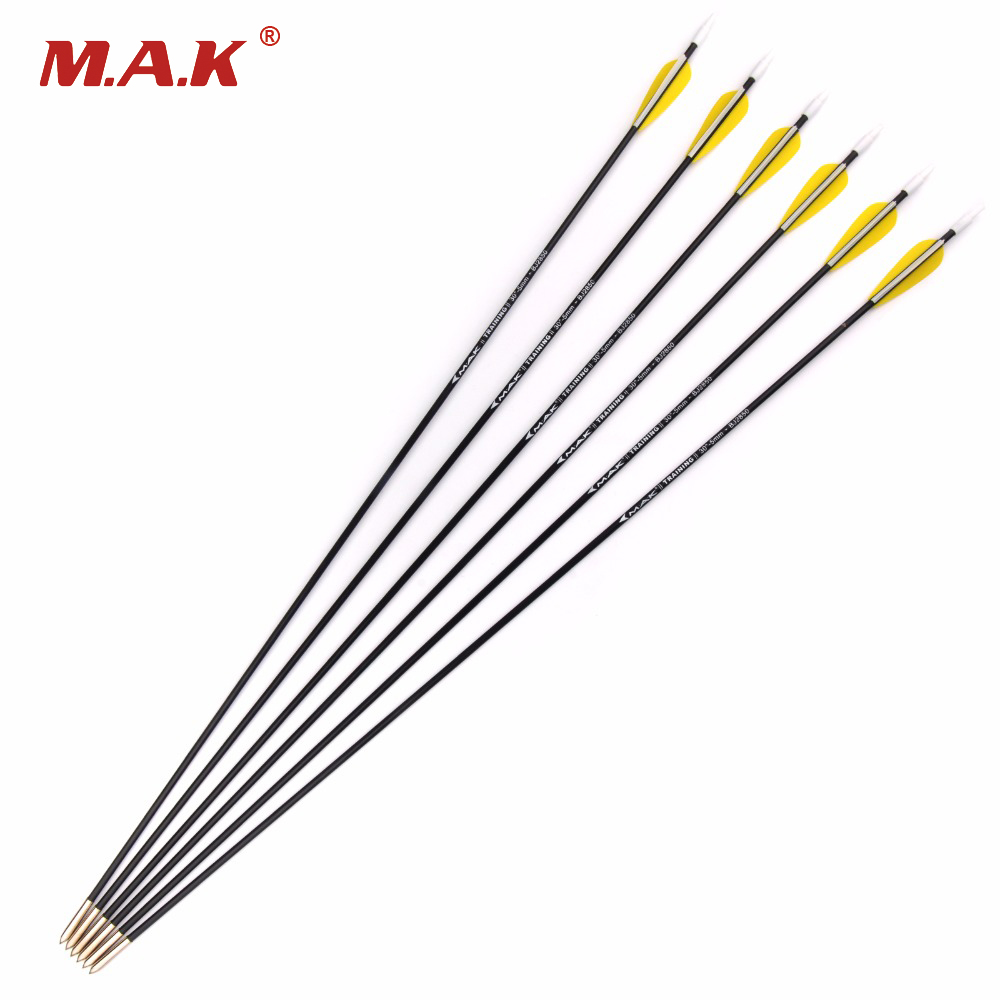 12pcs Spine 1000 Outer Diameter 5mm 30 Inch Carbon Arrow