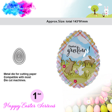 Happy Easter eggs Metal Cutting Dies Scrapbooking New 2018 bunny rabbit Crafts Die Cuts For DIY Paper Cards making Embossing