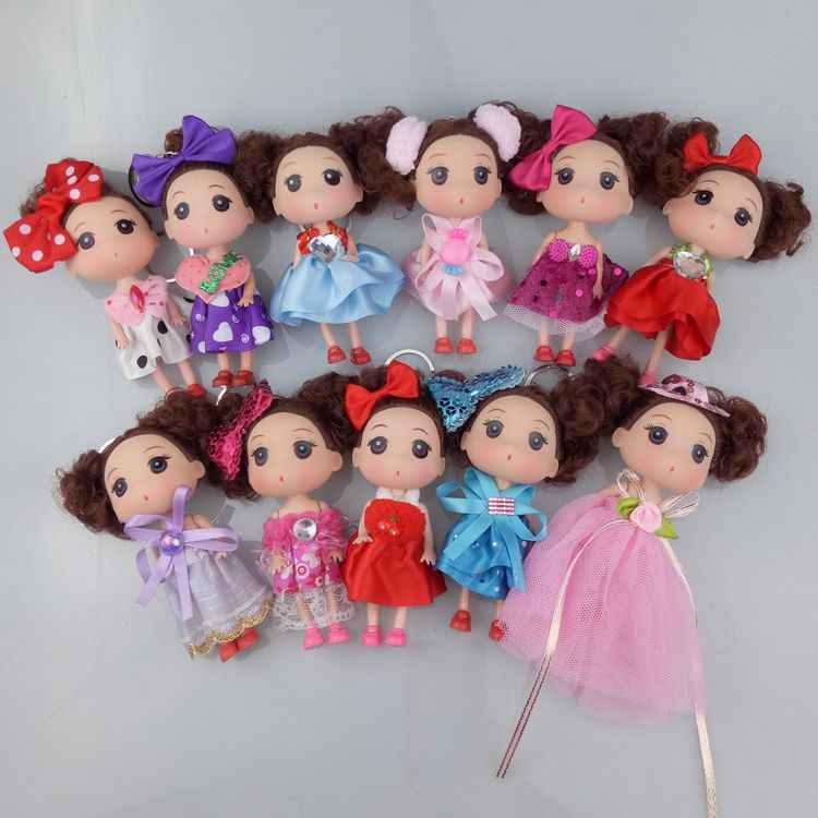 12cm 2019 hot sale Kids Toys Soft Interactive Baby Dolls Toy Mini Doll For girls and boys Dolls & Stuffed Toys Cute doll 007
