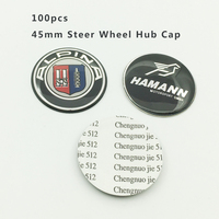 Groothandel 100 Stks 45mm Auto Stuurwiel Hub Embleem Cap Stuurwiel Center Cover Sticker Auto-Styling