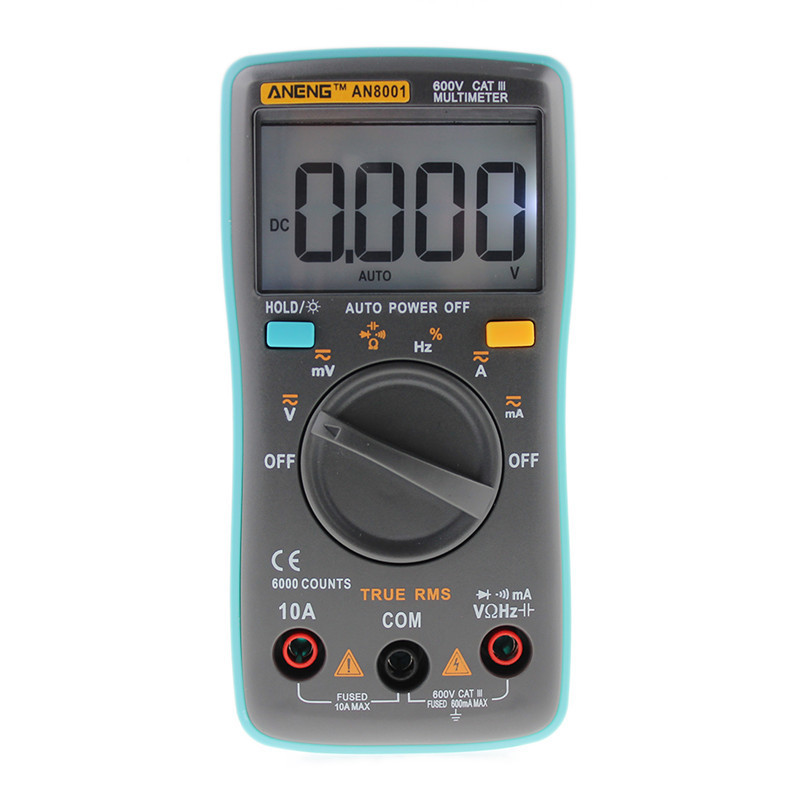 RM101 Portable Meter Digital Multimeter 6000 counts Backlight AC/DC Ammeter Voltmeter Ohm mini multimeter holdpeak hp 36c ad dc manual range digital multimeter meter portable digital multimeter