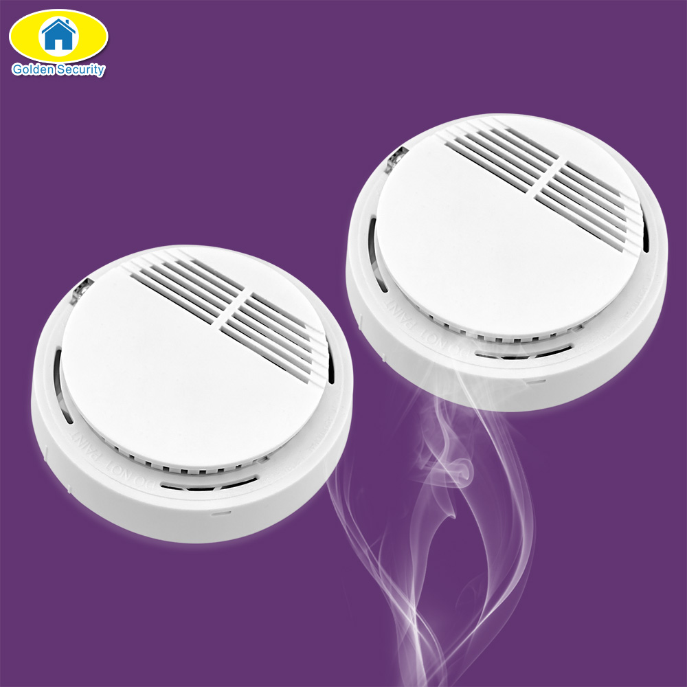 Golden Security 433MHz Wireless Alarm Security Smoke Fire Detector 80dB Home Security System for KERUI Alarm System Security golden security lpg detector wireless digital led display combustible gas detector for home alarm system