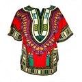 (Transporte rápido) design de moda africano Dashiki impresso tradicional 100% algodão Dashiki Camisetas para unisex (FEITO NA TAILÂNDIA)
