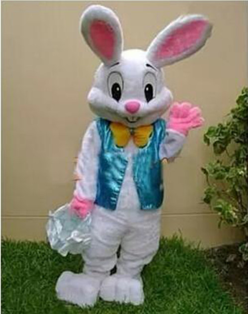 2017 vendre comme chaud professionnel lapin de pâques mascotte Costumes lapin adulte livraison gratuite