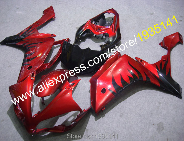 Bodywork cowling kit For <font><b>Yamaha</b></font> YZF <font><b>R1</b></font> <font><b>2007</b></font> 2008 YZF-<font><b>R1</b></font> 07 08 YZF1000 Red black Motorcycle <font><b>fairing</b></font>(Injection molding) image