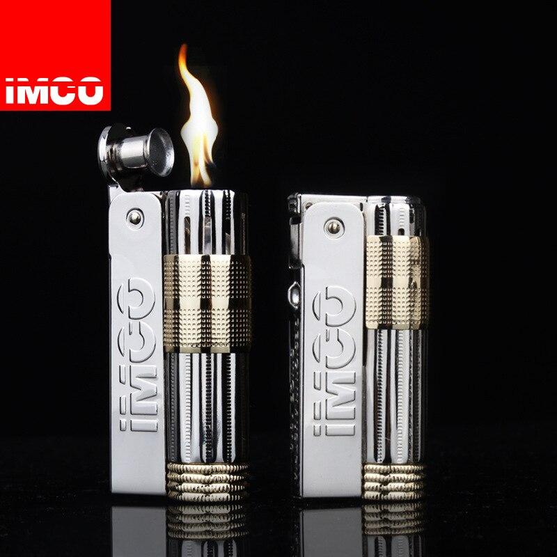 Echtes IMCO Leichter Edelstahl Zigarettenanzünder Original Öl Benzin Zigarettenanzünder Feuer Kreative Geschenk Benzinfeuerzeuge
