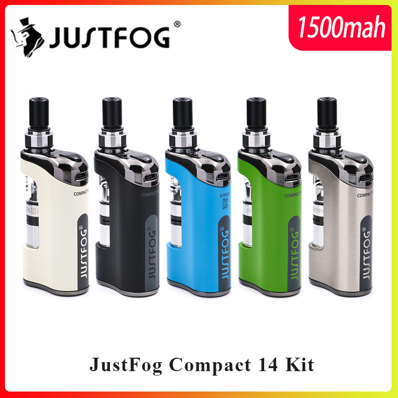 Auf lager E Zigarette Kit JustFog Kompakte 14 Kit 1500 mah eingebaute batterie mit 5 PCS Justfog Spule vs Justfog q16/Q14 Kit
