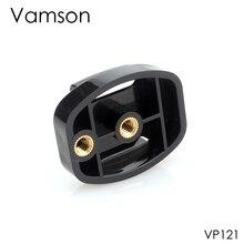 """Tripé vamson para câmeras, suporte para gopro hero 7 6 5 4, acessórios para câmera, liberação rápida, adaptador de montagem, parafuso de 1/4 """", fivela plana para xiaomi vp121"""