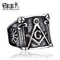 BEIER Free Mason Masonic Ring Jewelry 316L Stainless Steel Retro Man  Masonic Ring For Man Boy Wholesale Factory Price BR8-200