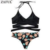 CHARMMA Pineapple Bikini Wrap Bandage Bikini Set Bathing Suit Sexy Swimwear Women 2017 Summer Beach Hot