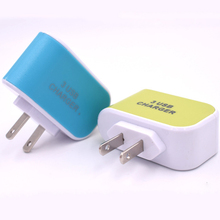 Portable Travel Power Adapter 5V 2A Light Chargers Multi-Head Wall Charger for iPhone Samsung Xiaomi Mobile Phone Charger 3 USB стоимость