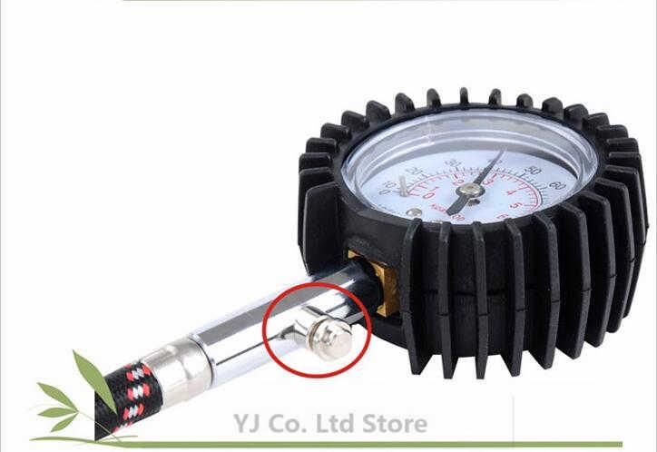 Auto voiture vélo moteur pneu jauge de pression d'air mètre jauge de pression des pneus 0-100 PSI véhicule testeur de pression des pneus système de surveillance