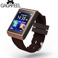 Homens da moda wearable dispositivos bluetooth inteligentes relógios brown band relógio de pulso para android iphone com suporte de câmera cartão sim