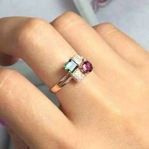 Кольцо из натурального турмалина, кольцо из натурального драгоценного камня S925 пробы, модное, элегантное, квадратное, женское, подарочное, ю...