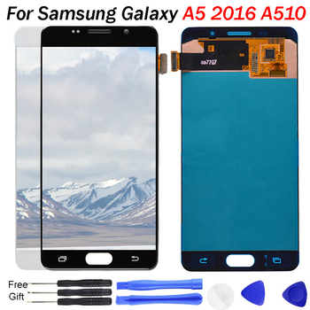 For SAMSUNG Galaxy A5 LCD display A5 2016 A510 A510F A510M A510FD Screen Display Touch Screen Digitizer Assembly Parts A510F LCD