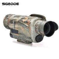 Best Deals 5X40 Magnification HD Digital Night Vision Monocular Optical Objective Lens Spotting Scope Camera Video