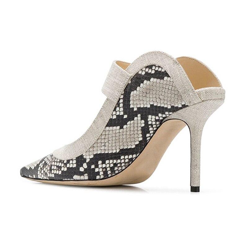 WETKISS Schlange Haut Hausschuhe 2019 Neue Sommer Gleitet Schuhe Spitz Hochzeit Stiletto Heels Slides Schuhe Weiblichen Maultiere Schuhe Dame-in Hausschuhe aus Schuhe bei  Gruppe 2