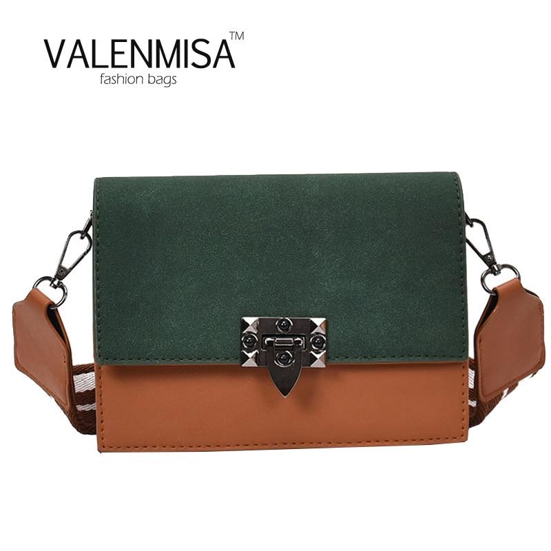 Autumn Women Small Bags Handbags Women Famous Brands Wide Straps Women Shoulder Bag Matt Leather Women Fashion Crossbody Bag