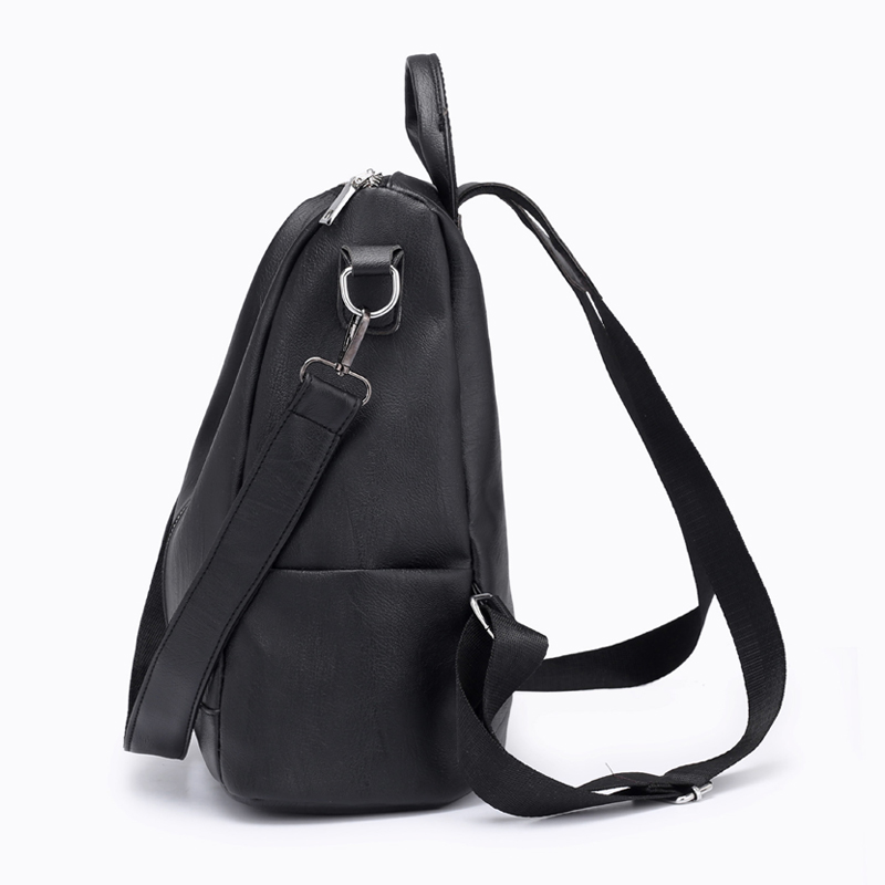 264244eb99 Women Red Backpacks Preppy style Women s Leather Shoulder Lady School Bags  Girls shoulder strap Backpack Drop Shipping-in Backpacks from Luggage   Bags  on ...