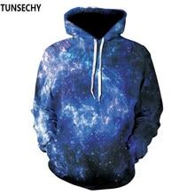 cd39c43b TUNSECHY пространство Galaxy 3D толстовки для мужчин/для женщин толстовки  со шляпой печати звезды Туманность