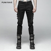 Панк рейв мужские панк Рок личности длинные брюки модные повседневные мужские штаны с заклепками уличная хип хоп хлопок карандаш брюки