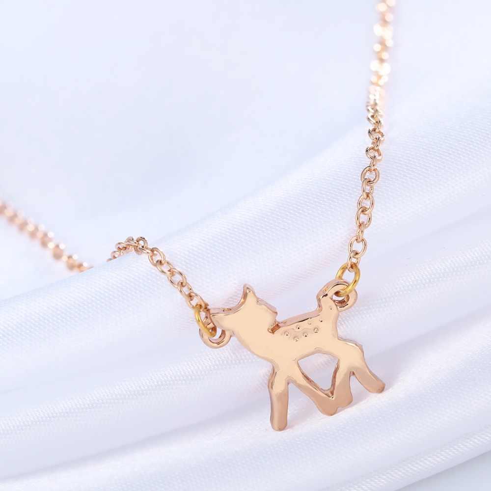 Cherida elegante BBI pequeño ciervo collares colgantes hechos a mano declaración joyería regalo de Navidad para mujeres joyería de descuento