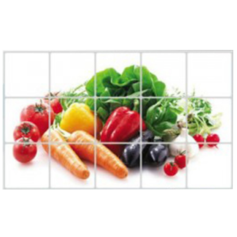 1 pcs Carrots Vegetables Kitchen Foil Anti oil Temperature Anti smoke Wall Stickers