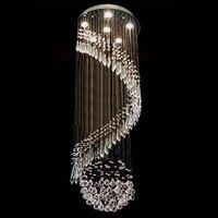 Роскошные Современные люстра K9 хрустальный шар большая спиральная Книги по искусству светильник украшения капли дождя блеск подвесной све