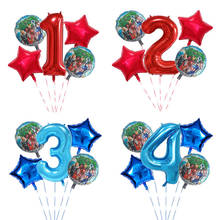5pcs Superhero Hulk The Avengers Foil Balloons 30inch Blue red Number Birthday Party Decor 18 inch Star Air Globos Kids Toy gift