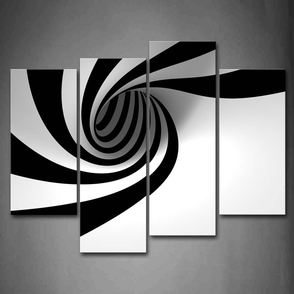 Постер черно-белый абстракция
