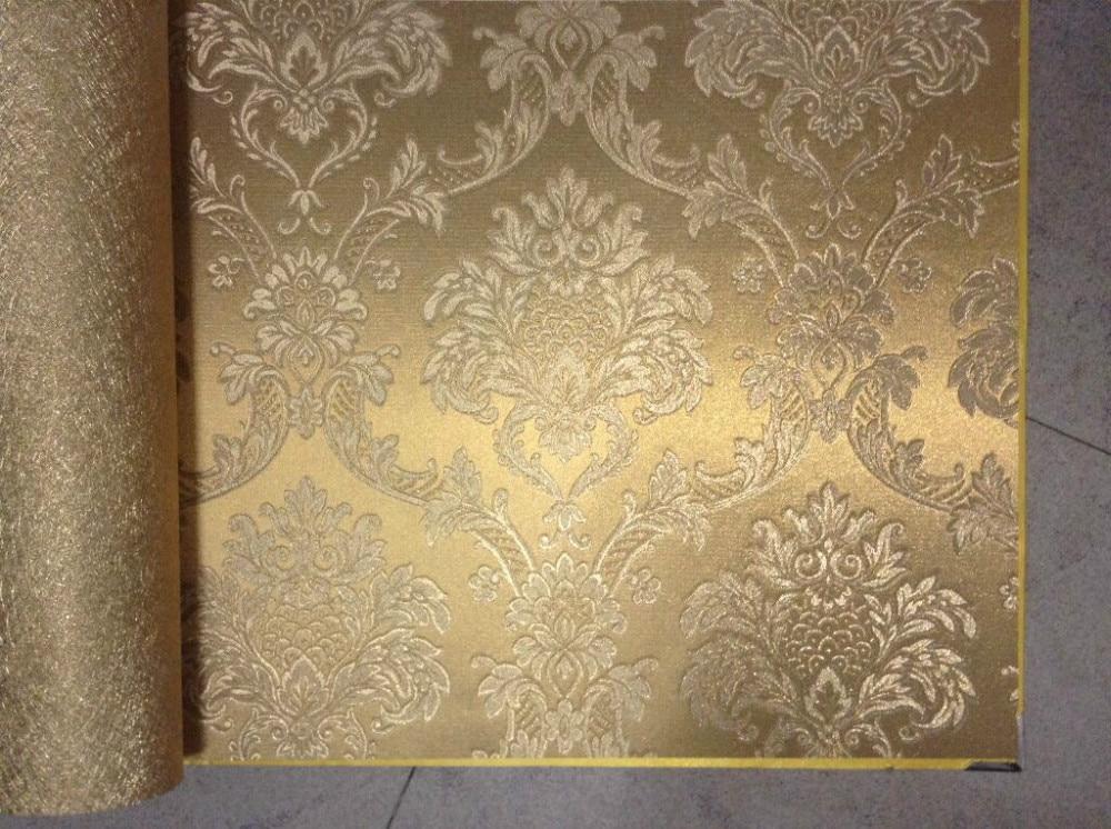 Jmy 99054 Fashion Gold Foil Wallpaper Luxury Golden Decorative
